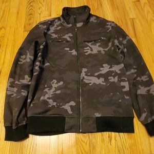 Buffalo David Bitton Black Grey Camo Jacket